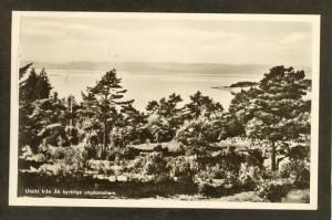 Gammalt vykort över Åh stiftsgård.